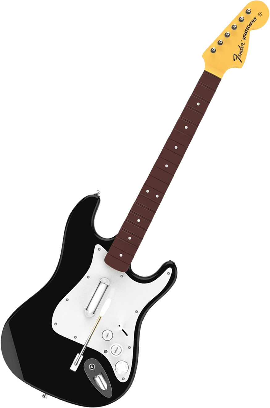 Rock Band 4 Wireless Fender Stratocaster Guitar - Black (PS4)(New)