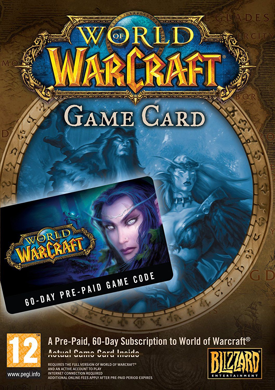 World Of Warcraft 60 Day Game Time Voucher Digital Code Buy